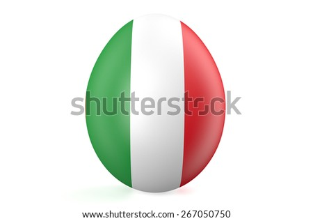Easter egg with the flag of the Italy isolated on white background - stock photo