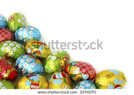 Easter eggs a background. Bright, beautiful and celebratory! Ideally for your use! - stock photo