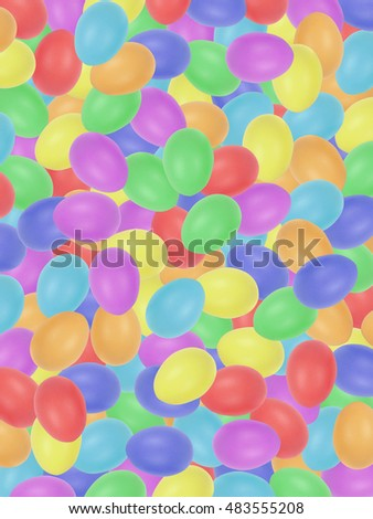 Easter eggs background. Rainbow color eggs.