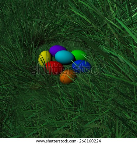 Easter Eggs Day - stock photo