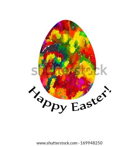 Easter eggs. Happy Easter! Raster - stock photo