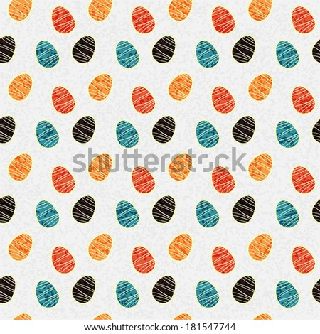 Easter eggs seamless pattern. Holiday background texture - raster version - stock photo