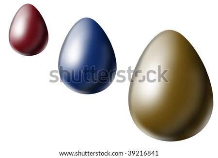 Easter eggs with different size