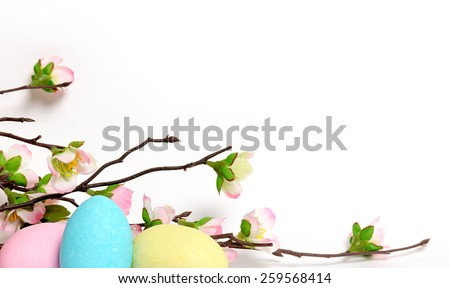 Easter frame - stock photo