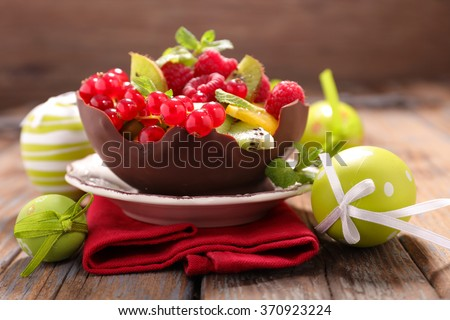 easter fruit salad - stock photo
