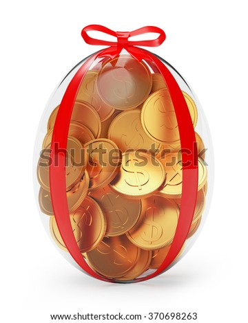 Easter gift stock images royalty free images vectors shutterstock easter gift glass easter egg full of golden coins isolated on white background negle Gallery