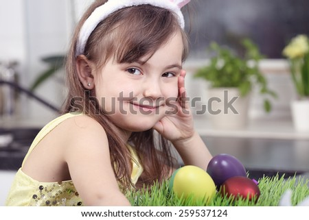 Easter preparation - stock photo