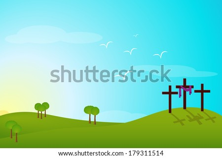 easter resurrection - stock photo