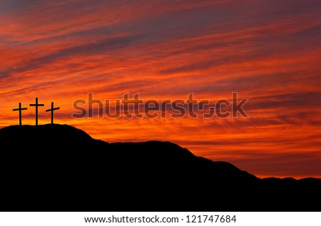 Easter sunrise or sunset - stock photo