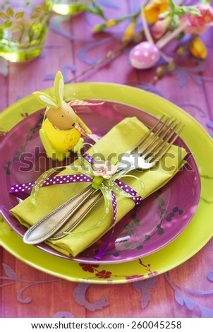 Easter tableware - stock photo