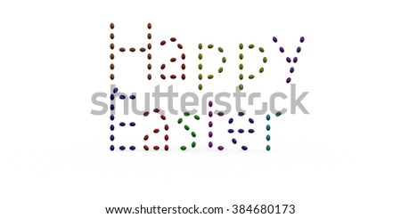 Easter Text 3d Illustration