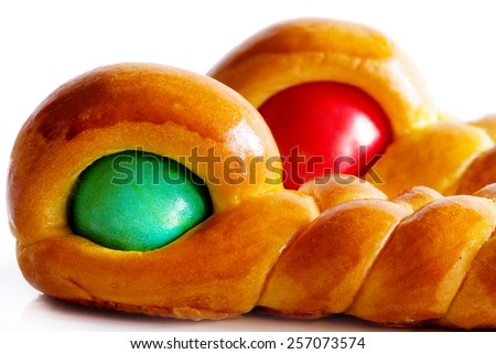 easter traditional cake close up - stock photo