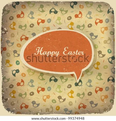Easter vintage background, rasterized version. - stock photo
