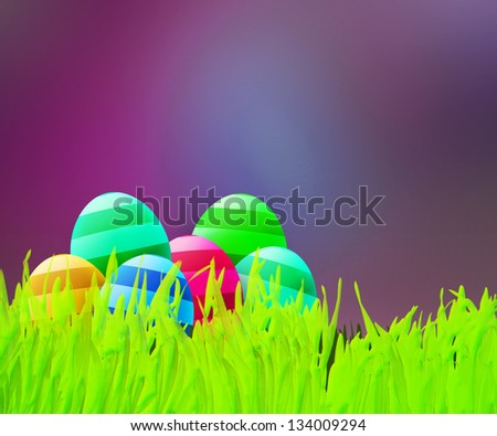 Easter Violet Background - stock photo
