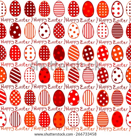 Easter wrapping paper seamless pattern - stock photo