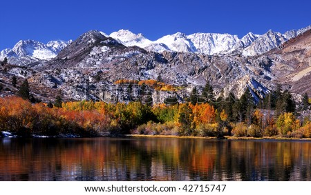 Eastern Sierra Nevada - Bishop Creek Canyon, California - stock photo