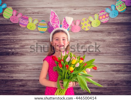 eastertime with young little girl