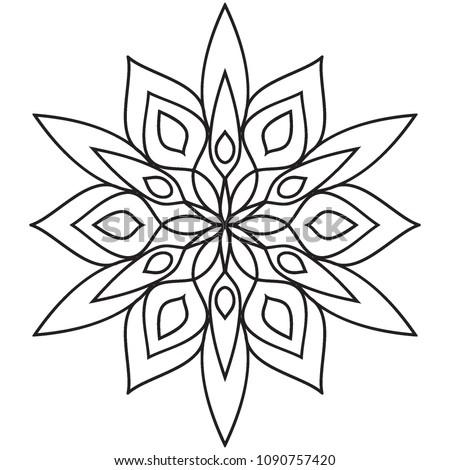 Easy Basic Simple Mandalas Beginners Coloring Stock ...