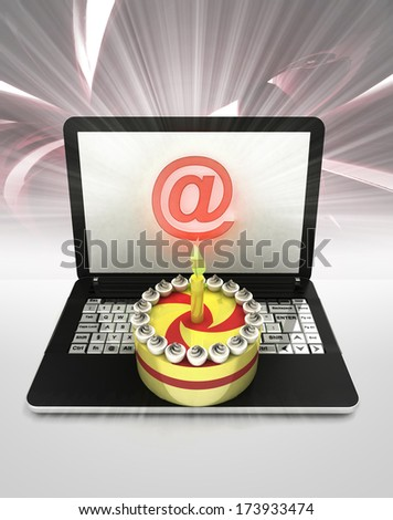 easy internet surfing and searching info about holiday celebration illustration - stock photo