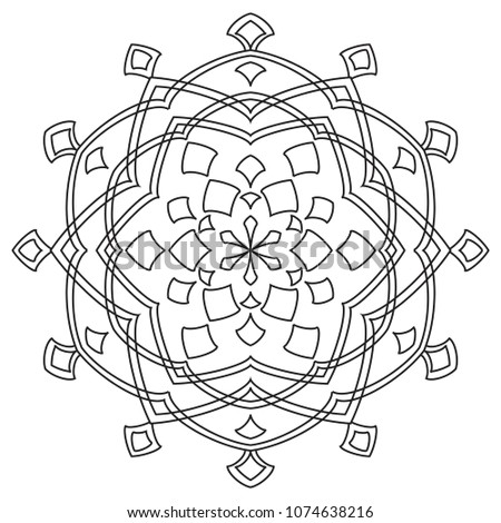 Easy Mandalas Coloring Page Beginners Adults Stock Illustration ...