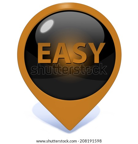 easy pointer icon on white background