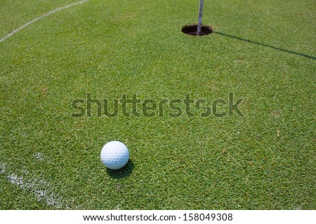 easy putt in give line, good shot