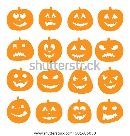 easy to edit  illustration of Halloween Background with Pumpkin