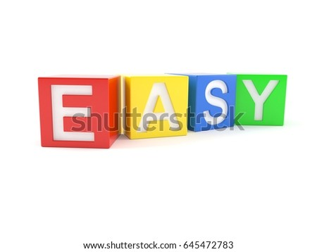 Easy toy isolated on white background. 3d illustration