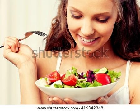 Eating. - stock photo