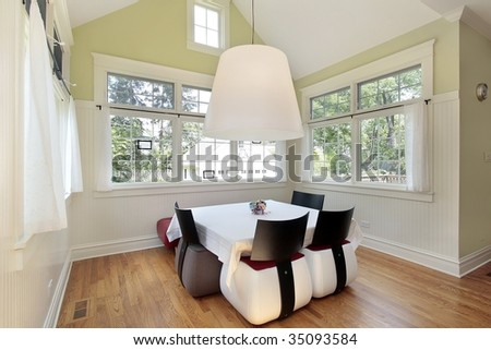 Eating area in luxury kitchen