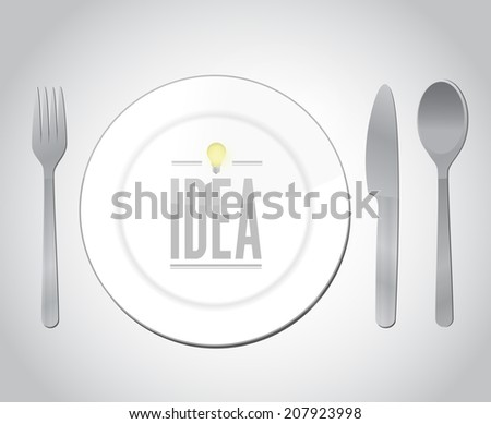eating great ideas illustration design over a white background - stock photo