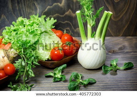 Eating healthy food - fresh organic vegetables