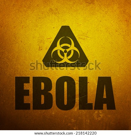 Ebola biohazard yellow alert sign - stock photo
