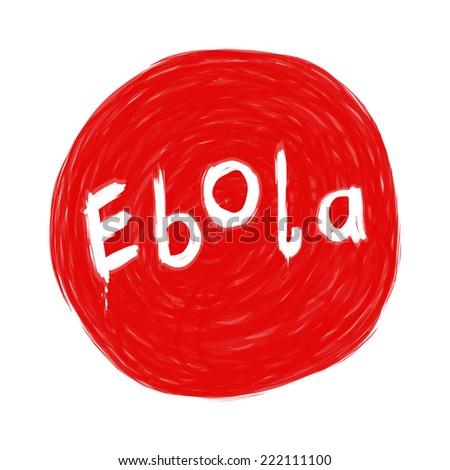Ebola virus word image - stock photo