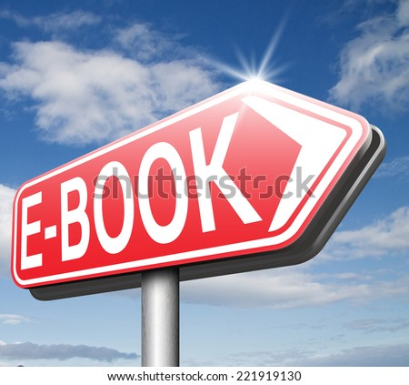 Ebook downloading online reading digital electronic book or e-book download    - stock photo