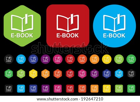 Ebook icon download - stock photo