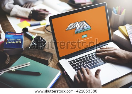 Ebook Reading Digital Learning Modern Concept - stock photo