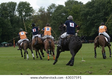 EBREICHSDORF, AUSTRIA - SEPTEMBER 10: Polo European Championship match Netherlands against France on September 10, 2010 in Ebreichsdorf, Austria