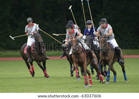 EBREICHSDORF, AUSTRIA - SEPTEMBER 10: Polo European Championship match Switzerland against Germany on September 10, 2010 in Ebreichsdorf, Austria