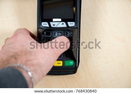 EC device for card payment
