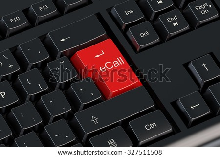 Ecall red keyboard button