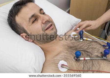 ECG  Patient - stock photo