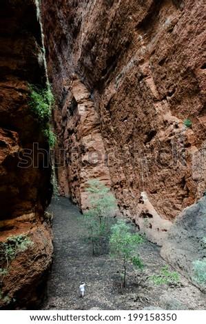 Echidna Chasm - Purnululu NP - Australia - stock photo