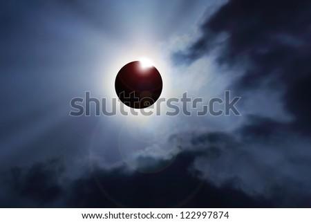 eclipse computer graphic - stock photo