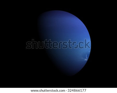Eclipse of Planet Neptune.Elements of this image furnished by NASA