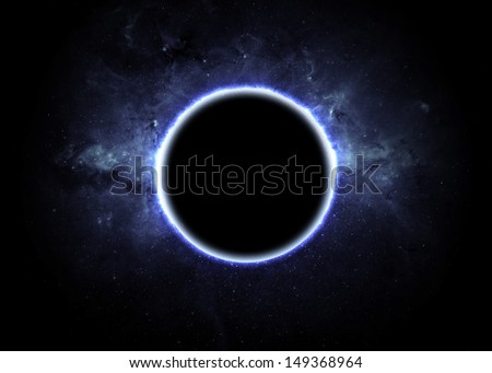 Eclipse of the sun. Elements of this image furnished by NASA - stock photo