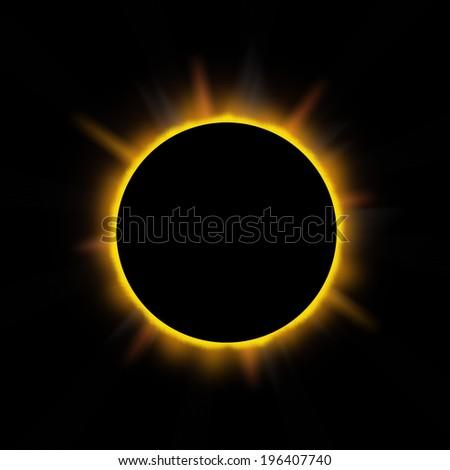 Eclipse on a dark background. - stock photo
