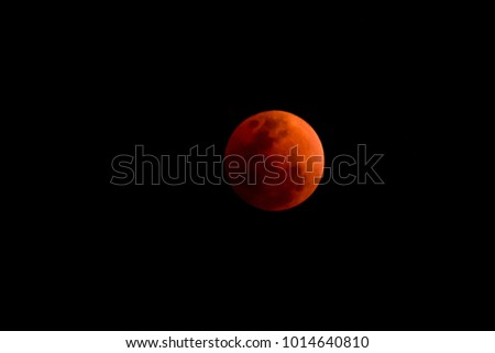 Eclipse or Blood Moon Phenomenon Background.