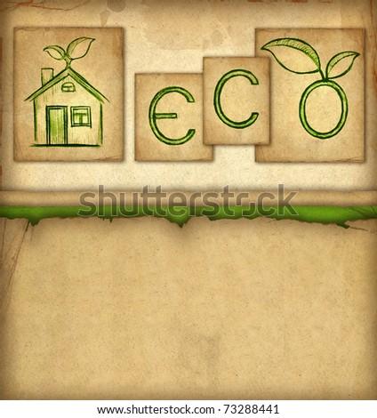 Eco background - stock photo