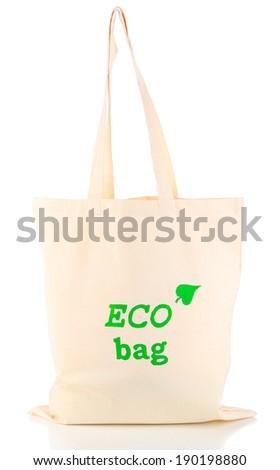 Eco bag, isolated on white - stock photo